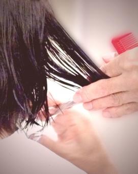 髪質改善 枝毛カット画像